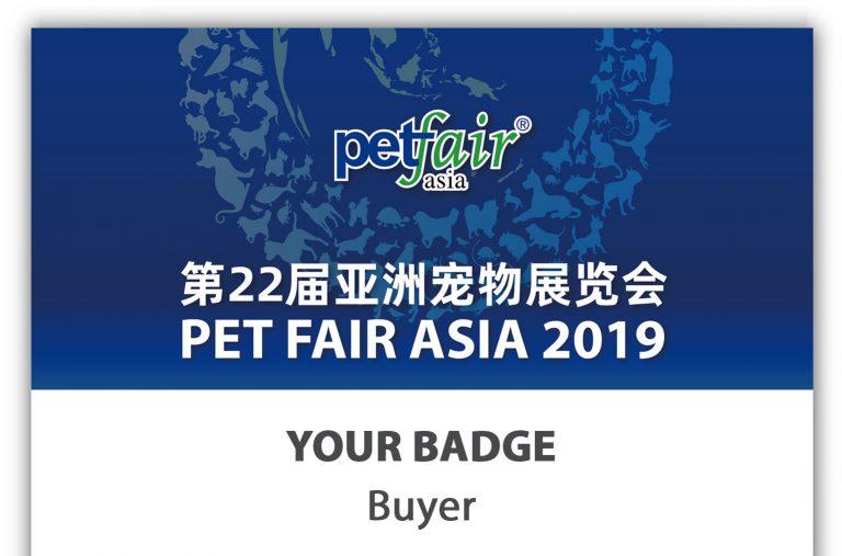 Pet Fair Asia 2019 - Visitor Badge