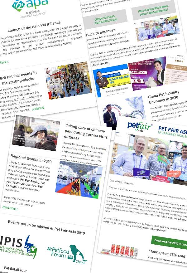 Pet Fair Asia newsletter